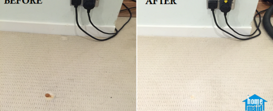 Cleaning rust stains from carpet in Baker Street, Marylebone, North West London NW1