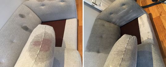 Wine stained sofa cleaning in Nine Elms, London SW8