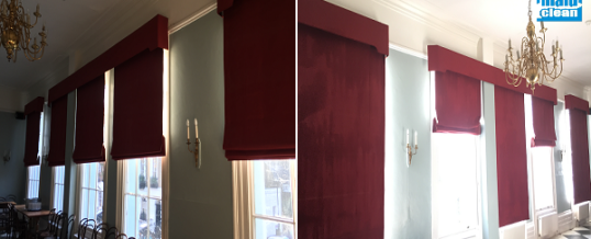 Commercial Curtain cleaning for a private club in Mayfair