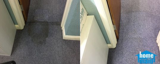 Cleaning stained office carpets in the City of London, EC4