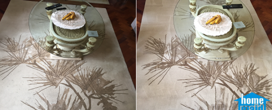 Beige rug steam cleaning in Mayfair, West End