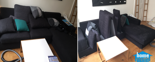 Fabric sofa steam cleaning in Covent Garden, London WC2E