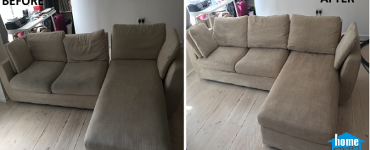 Beige sofa cleaning in Notting hill, London W11