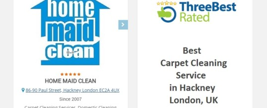 Home Maid Clean recognized as a Top 3 Carpet Cleaning Business