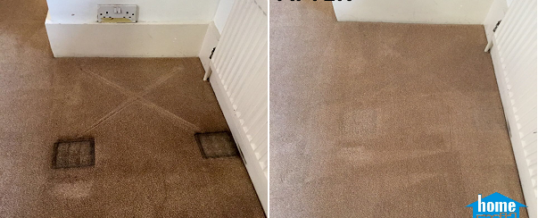 Removing furniture stains on carpet in Kensington, London W8